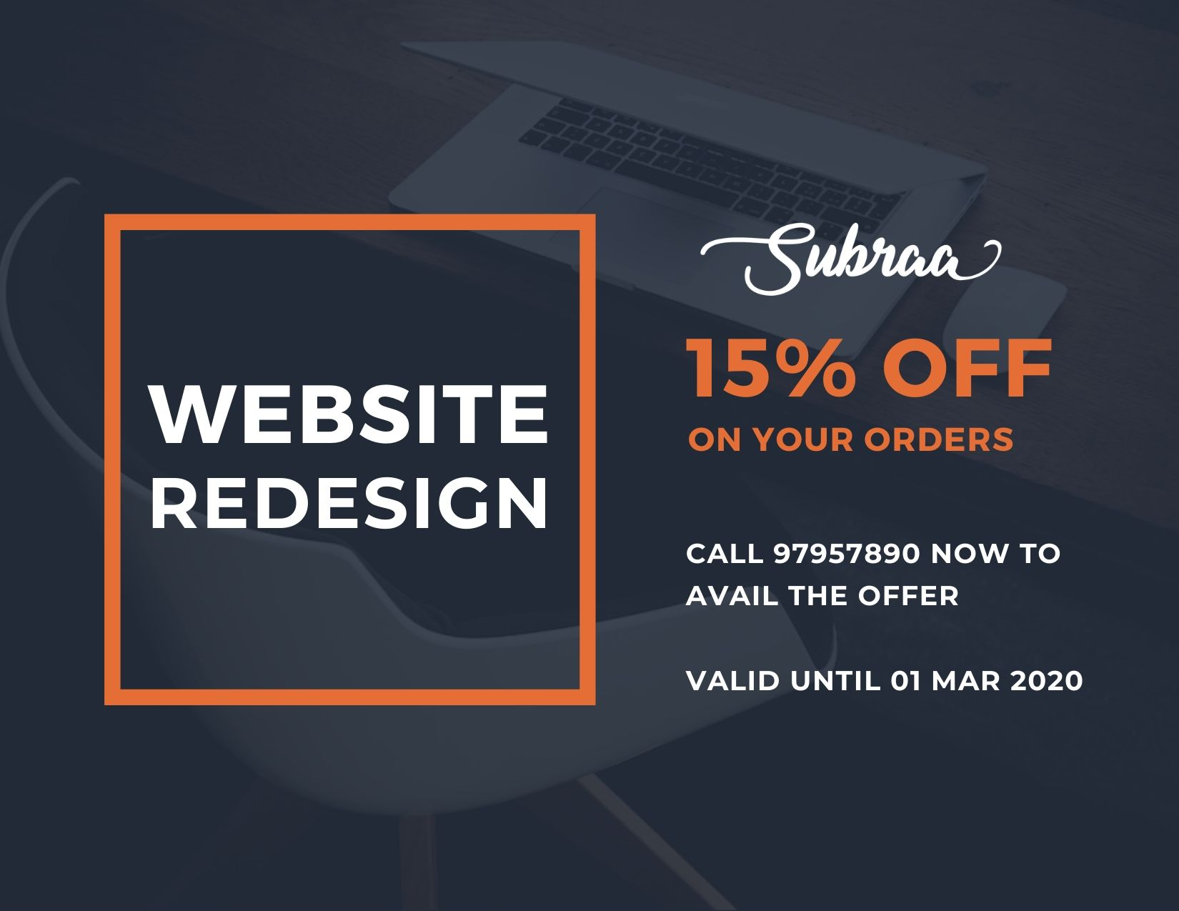 Website Redesign Offers and Promotions by Subraa, Freelance Web Designer Singapore