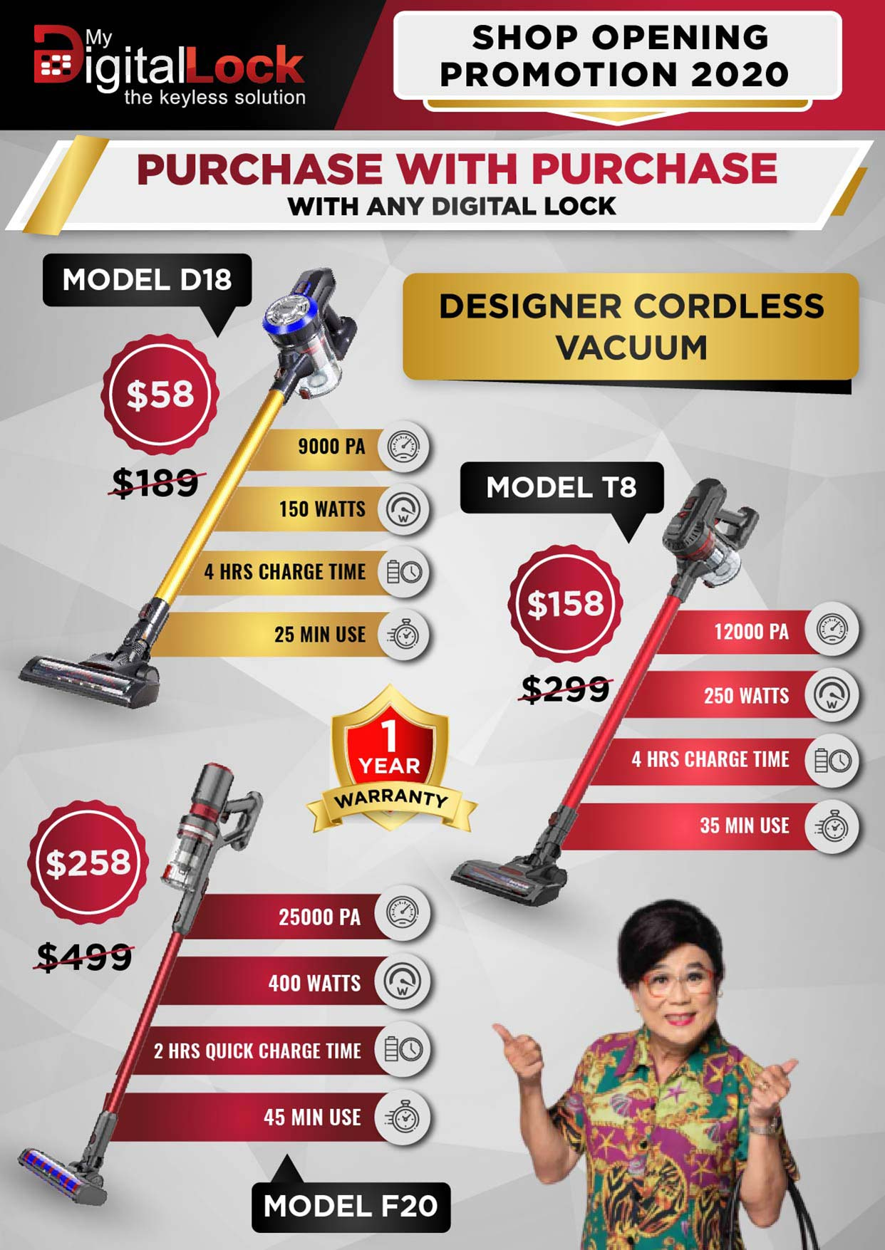 Flyer Design for Designer Cordless Vacuum Cleaner
