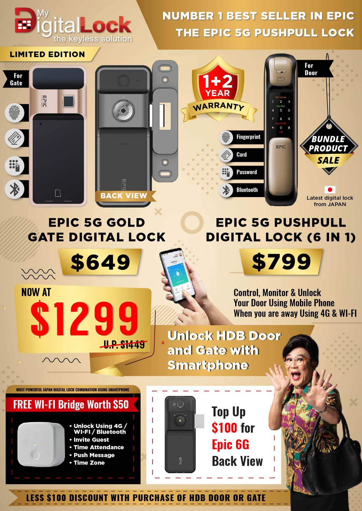 Flyer Design for Digital Lock Products