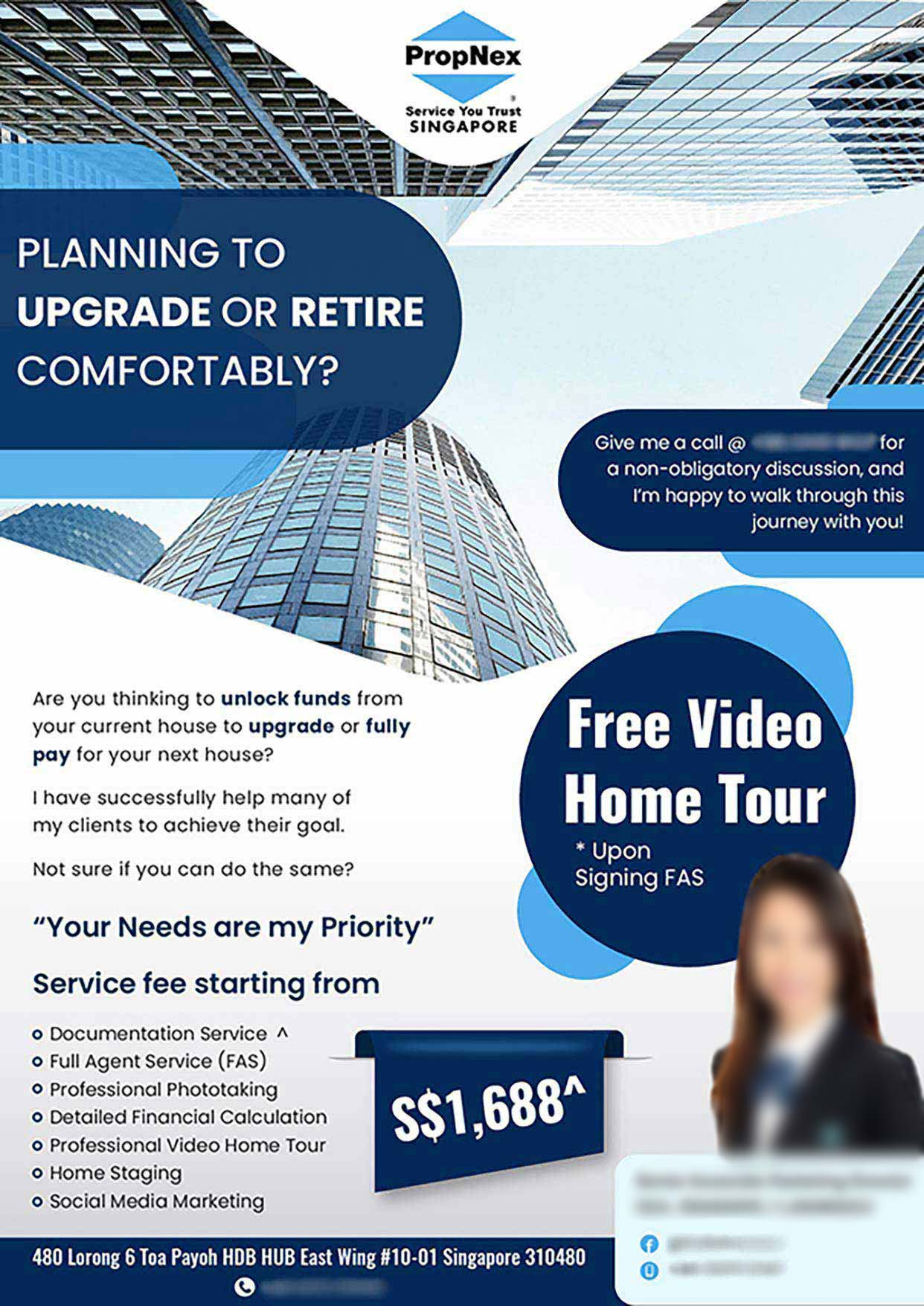 Flyer Design for Property and Real Estate Agent in Singapore