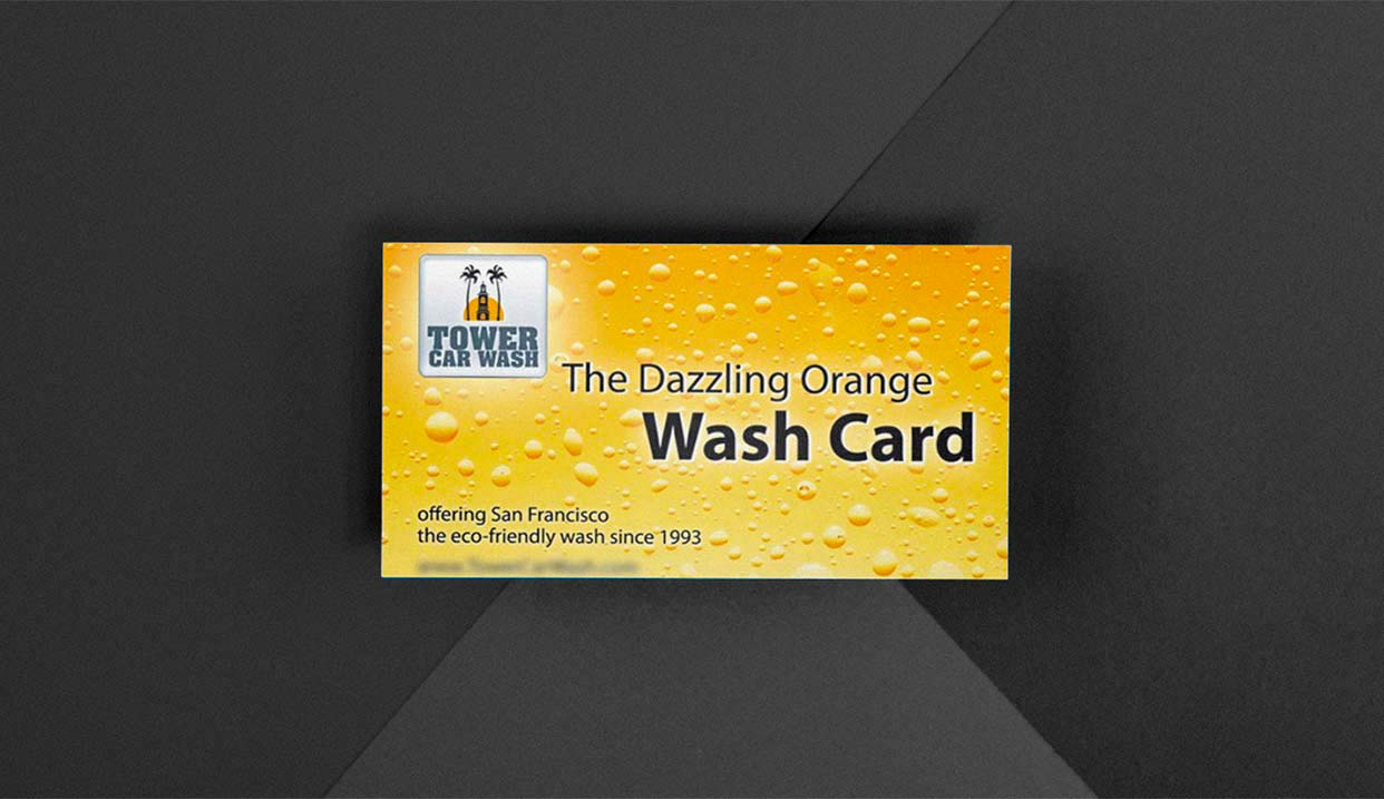 Card Design for Car Wash Company