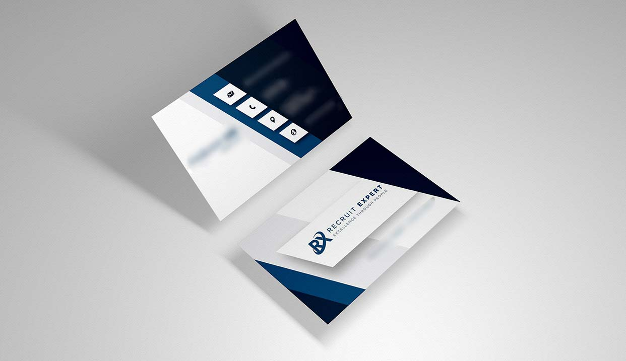 Name Card Design for Recruitement Agency