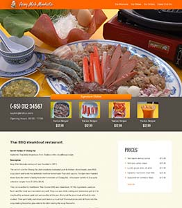 WordPress CMS Website Design for Steamboat Restaurant in Singapore