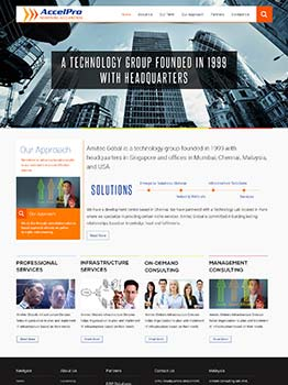 WordPress CMS Website Design for Technology Company in Singapore