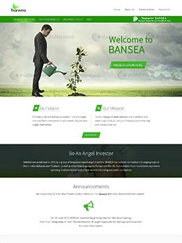 WordPress CMS Website for Angel Investment Company in Singapore