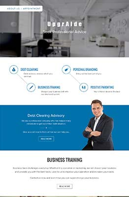 WordPress CMS Website for Business Training Company in Singapore