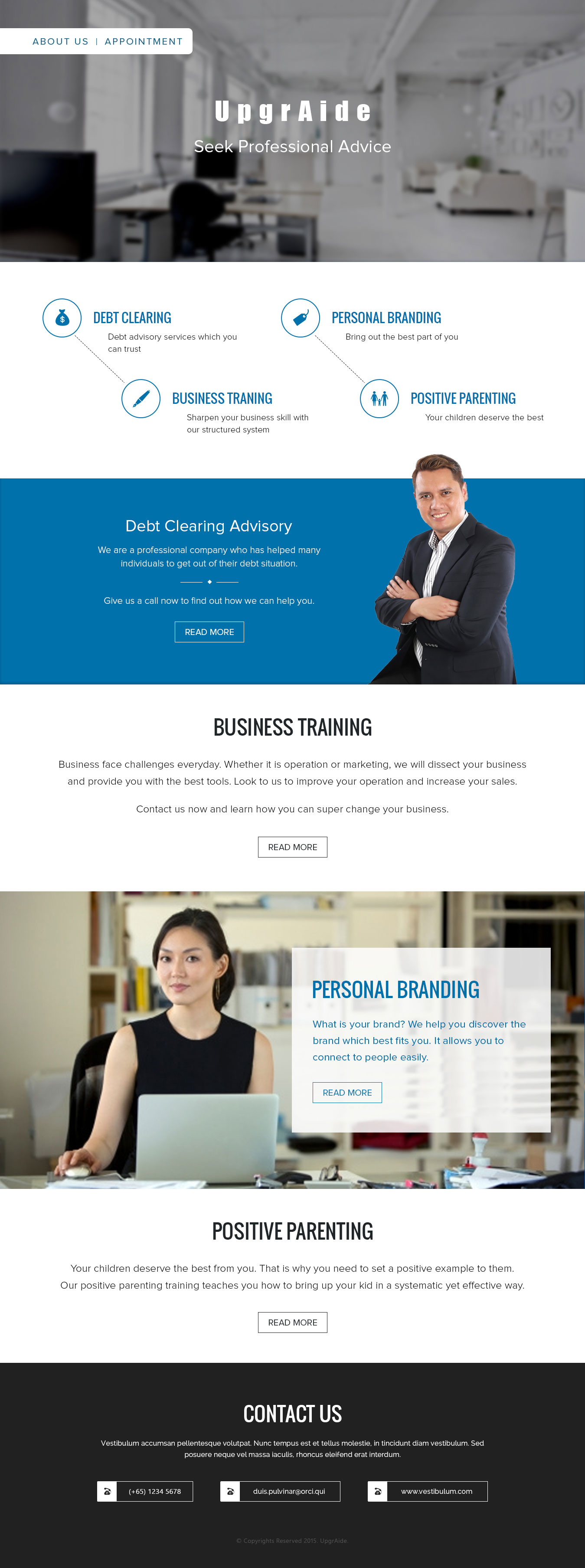 WordPress CMS Website for Business Training Company