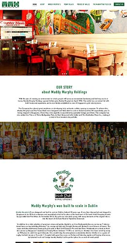 WordPress CMS Website for Irish Pub in Singapore