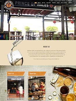 WordPress CMS Website for POW Restaurant in Singapore