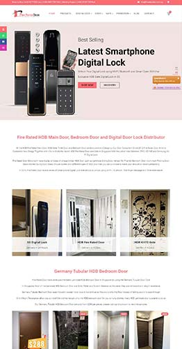 WordPress eCommerce Website Design for Digital Lock Shop in Singapore